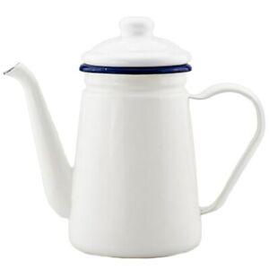 1.1L Enamel Coffee Pot Hand Tea Kettle Induction Cooker Gas Stove Universal
