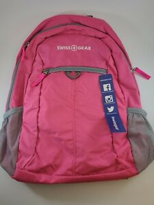 SwissGear Daypack Backpack, Pink with Tablet Pocket