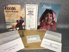 1950's Lot Canada Vacations Unlimited Highway Map 1954 Auto Advertisement