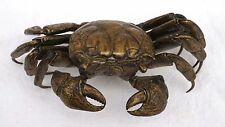 Japanese Large Bronze Articulated Crab Complete Meiji Period