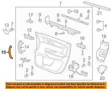 Chevrolet GM OEM 15-17 Traverse Front Door-Handle Cover Right 23132412
