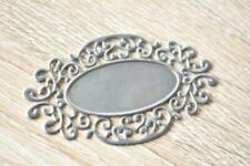 Frame Metal Filigree 6pcs 40x70mm Embellishments Silver Tin