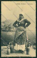 Palermo Costumi Siciliani cartolina QQ0881
