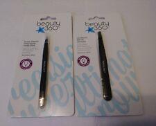 CVS Beauty 360 EYEBROW GROOMING SET Dual-Ended Precision Tweezers & Brow Definer