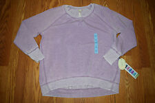 NWT Womens Green Tea Violet Pullover Long Sleeve Sweat Shirt Size M Medium
