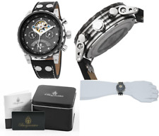 Burgmeister Men's Analogue Automatic Watch with Leather Strap – BM136-922