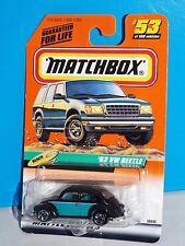 Matchbox 1999 Beach Series #53 '62 VW Beetle Black w/ Teal