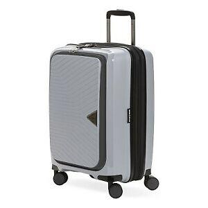 "SWISSGEAR 20"" Geneva Hardside Carry On Spinner Suitcase - Gray"