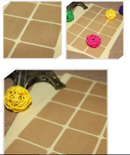 2 Sheet=30PCS - 3.5cm Blank Square DIY Kraft Sticker/ Label/ Cookies Bag Sealer