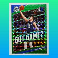 Luka Doncic 2019-20 Mosaic Got Game? Green Prizm Holo #11 Dallas Maverick Jersey