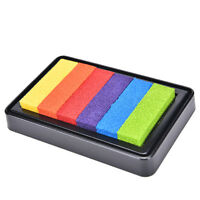 Gradient Oil Based Ink pad Signet For Paper Wood Craft Rubber Stamp 5 ColorLD