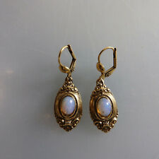 Paar Ohrringe mit Opal im Biedermeier Stil (60197)