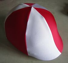 Horse Helmet Cover ALL AUSTRALIAN MADE Red & White Any size you need
