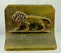 Antique Cast Iron Lion Bookend B & H Bradley & Hubbard