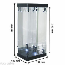 "Acrylic Display Case LED Light Box for 12"" 1/6 Scale Black Panther Action Figure"