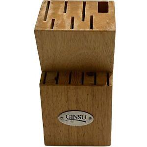 Ginsu Knife Block Solid Wood 13 Slots