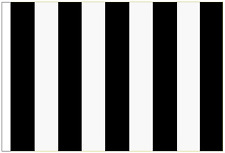 Black And White Striped 3' x 2' Sleeved Flag *** TO CLEAR ***