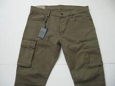 POLO RALPH LAUREN Men's Olive Cotton/Elastane Stretch Cargo Jeans 36x32