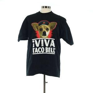 Viva Taco Bell Dog Men's Black Vintage T-Shirt - Size Large