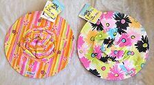 Flap Happy Kids Childrens Girls Baby Floppy Wide Brim Soft Hat Ladybug Flowers M