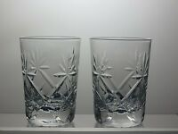 LEAD CRYSTAL CUT GLASS TUMBLERS SET OF 2