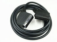 Scart Lead Cable Fully Wired 21 Pin RGB SKY TV DVD SILVER 1.5M Long