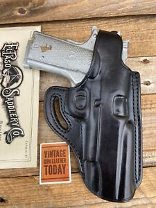 El Paso Saddlery Cross Cover Black Leather Holster For Colt .45 1911  Government
