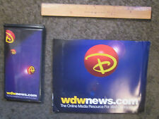 WALT DISNEY WORLD WDWNEWS.COM MOUSE PAD+NOTEBOOK CIRCA LATE 90s-UNUSED