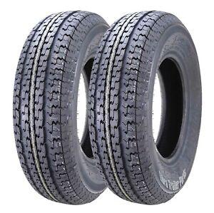 2 Premium WINDA Radial Trailer Tires ST205/75R15 8PR Load Range D w/ Scuff Guard