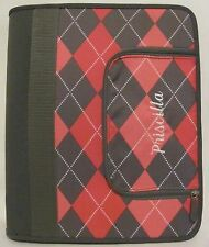 New! PB Teen Personalized Embroidered Priscilla Binder Pink Gray Zippered Coupon