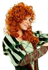 Adult Womens WIG Forest Princess Costume Auburn Red Brave Merida 6 7 8 9 10 12