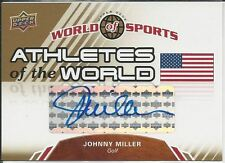 Johnny Miller 2010 Upper Deck World Of Sports Athletes Of The World Autographs