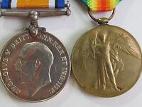 Canada WW1 British War&Vic. Medal - Pte. H.L. Chalton 43rd Canadian Inf. Batt.