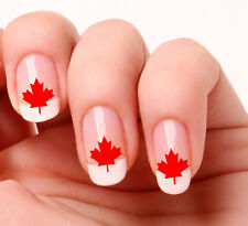 20 Nail Art Stickers Transfers Decals #490 - Canadian Maple Leaf  peel & stick
