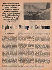 Early California Hydraulic Mining in Butte, Calaveras,El Dorado,Marysville,Yuba