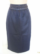 Pied A Terre Navy Pencil Skirt with Beaded Waistband (RRP £70)