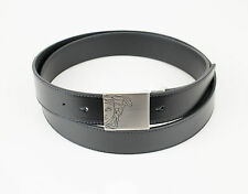 NIB. VERSACE COLLECTION Medusa Black Leather Belt Size 48 Cut To Size $295