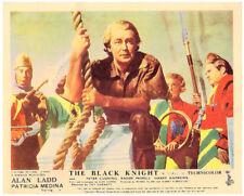 THE BLACK KNIGHT Original British Lobby Card Alan Ladd 1954