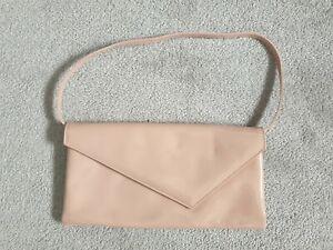 Ladies Patent Leather  LK Bennett Shell Pink Under Arm/clutch Bag
