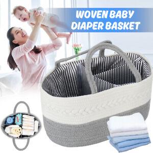 Outdoor Baby Diaper Basket Storage Bag Clothes Nappy Organizer Hamper Handbag