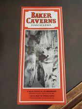 Vintage Tourist Brochure 1930s Baker Caverns Williamson, Pa