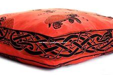 "Indian Turtle Meditation Square Floor Pillow Cushion Pouf Sitting Area Decor 35"""