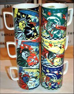 TRANSATLANTIC BOPLA Porzellan MAXITASSE Mug Maxicup Becher Glühwein Tee Kaffee