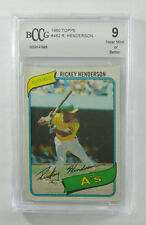 1980 Topps Rickey Henderson  #482 Oakland A's BCCG 9 8902