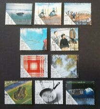 NETHERLANDS USED 2006 MODERN ART 10 VALUE VF COMPLETE SET SC # 1212 a - j