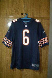 Chicago Bears Nike NFL Jersey #6 Jay Cutler Dark Blue Football Men Size L Large
