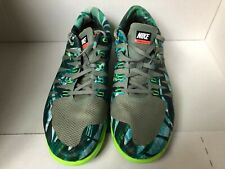 Mens Nike Free Fly Size 13 M Green Patterned Running Shoes