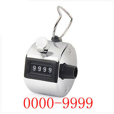 Tally Counter Hand Held Clicker 4 Digit  Golf People Counting Counter