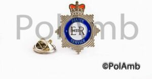 Thin Blue Line Police Force Service Enamel Crown Pin Lapel Badge Officer PC