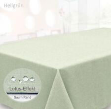 Tischdecke abwischbar eckig 135x180 beschichtet Struktur Leinen Optik Tafeltuch